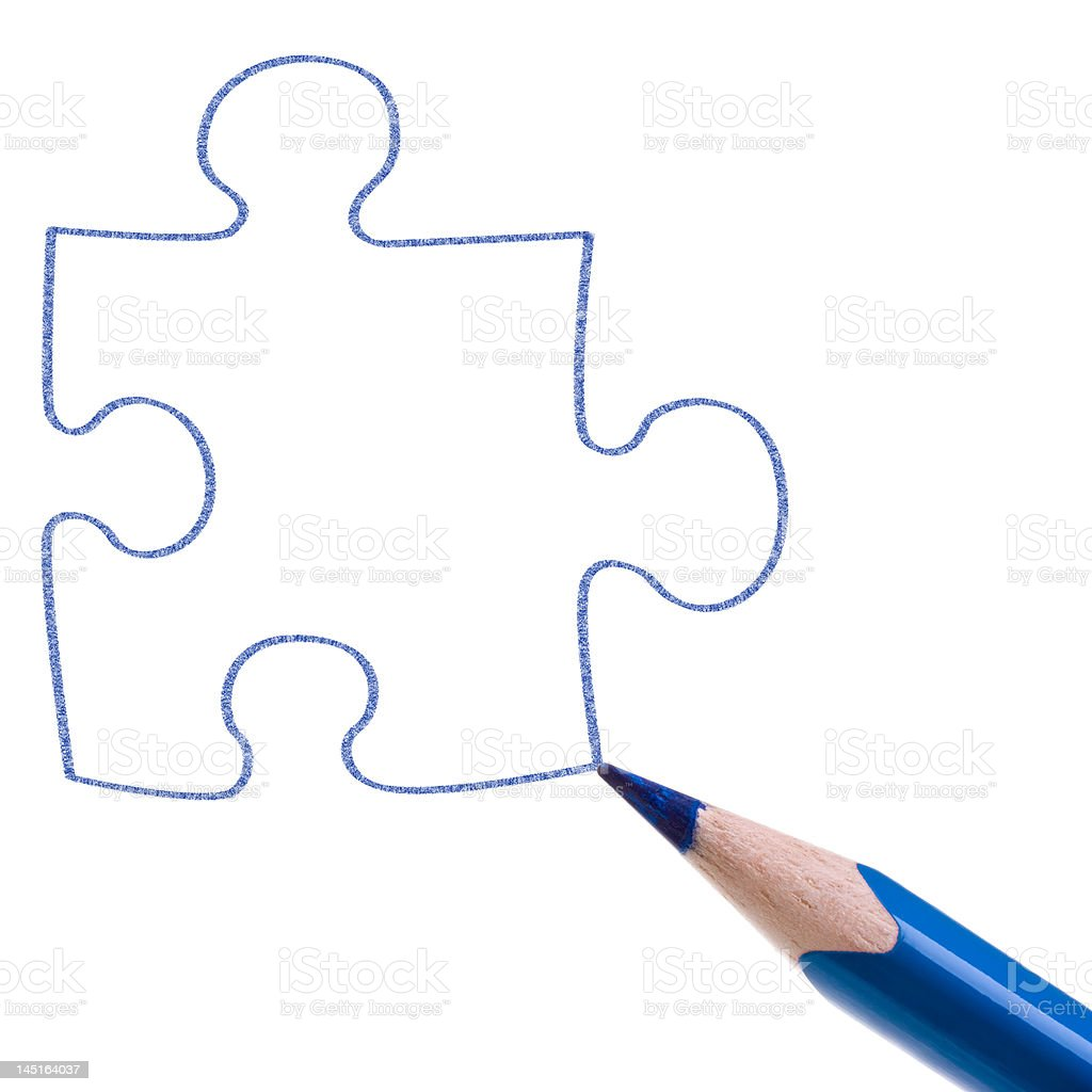 Puzzle sketch royalty-free stock photo