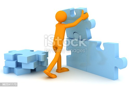 istock Puzzle solution. Conceptual image 962041170