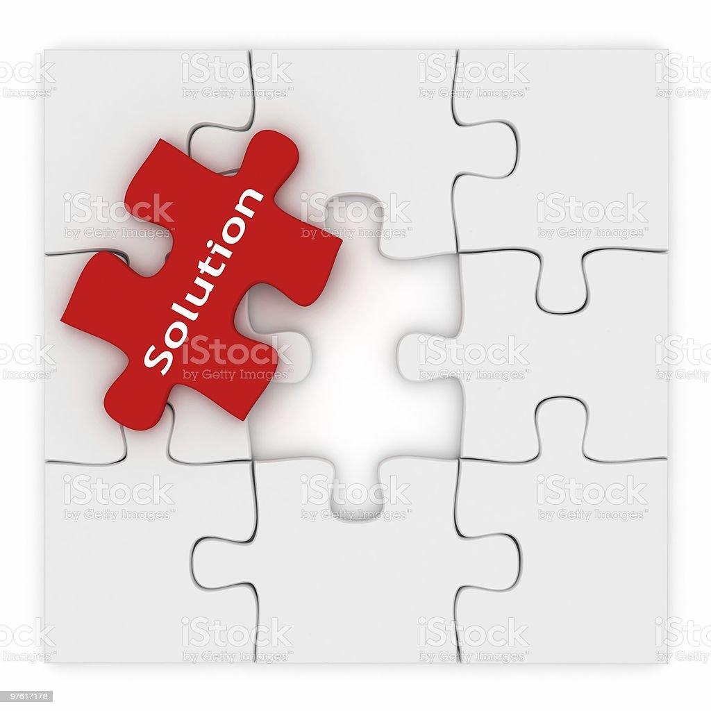 Puzzle de Solution photo libre de droits