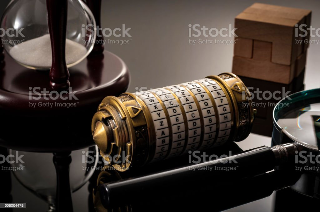 Puzzle solving, brain games and code cracking stock photo