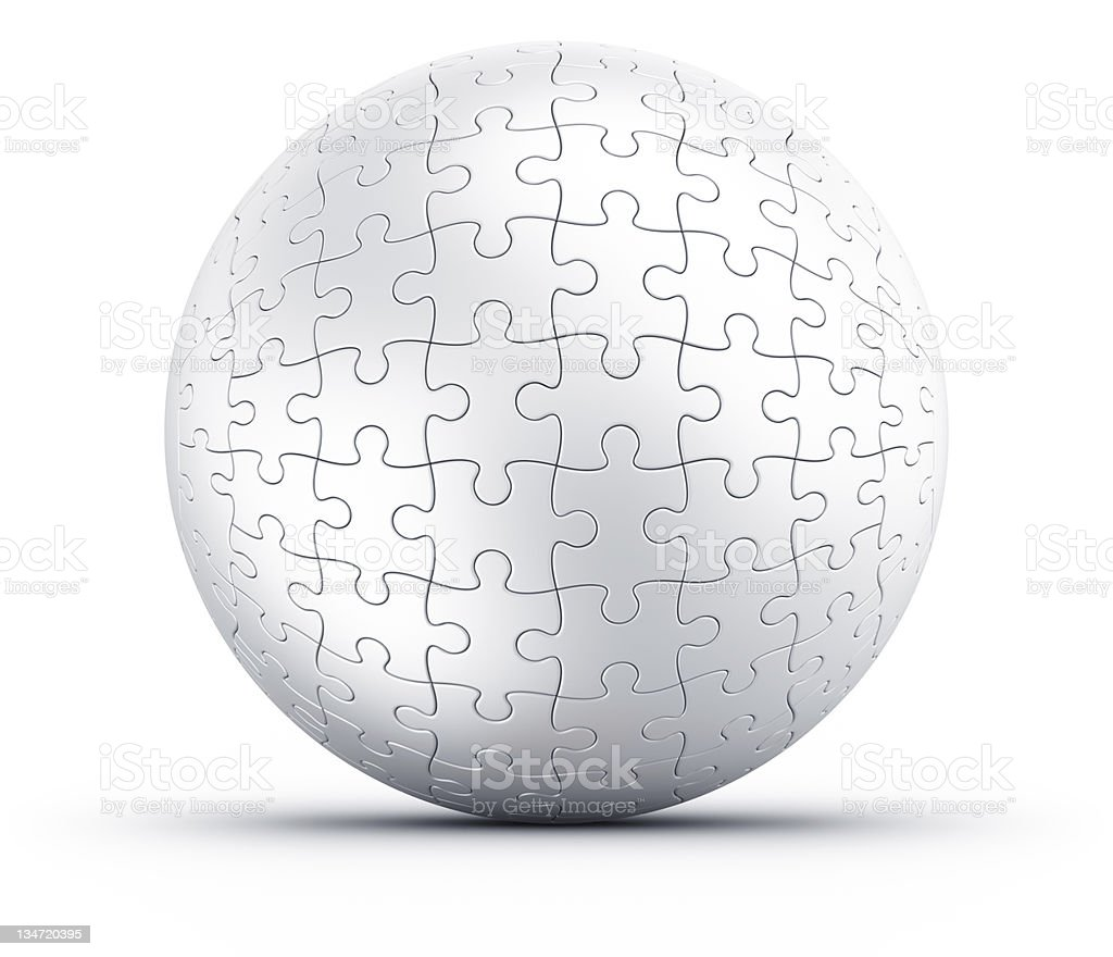 Puzzle sphere royalty-free stock photo