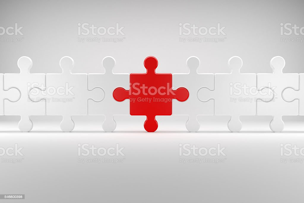 Puzzle symbolizes Team Spirit stock photo