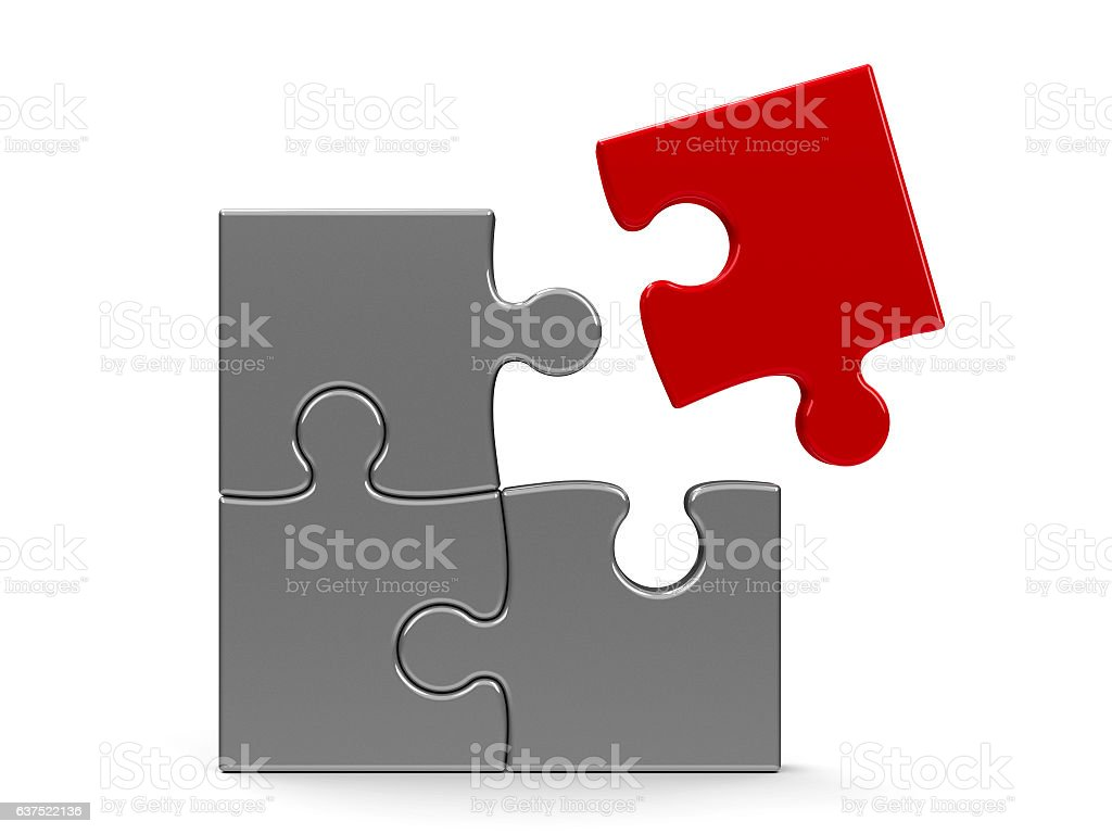 Puzzle Team concept stock photo