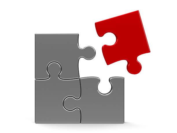 Puzzle Team concept stock photo