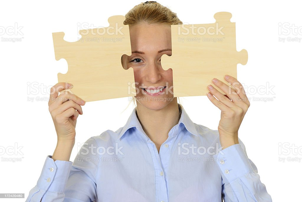 Puzzle Teamwork Concept royalty-free stock photo