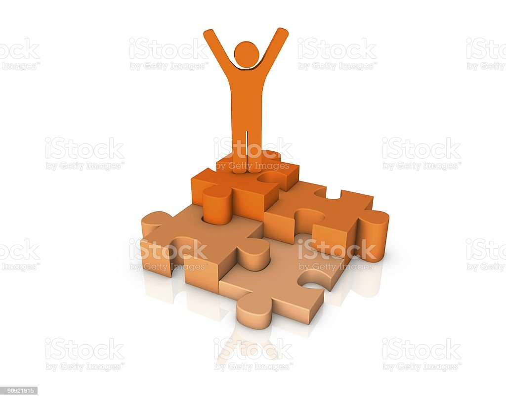 puzzle with 3d human figure royalty-free stock photo