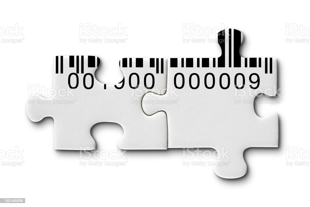 Puzzle with barcode royalty-free stock photo