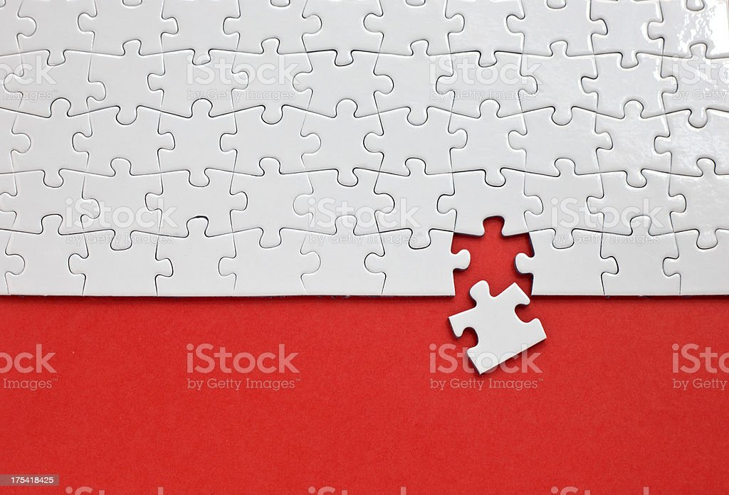 Puzzle with missing piece royalty-free stock photo
