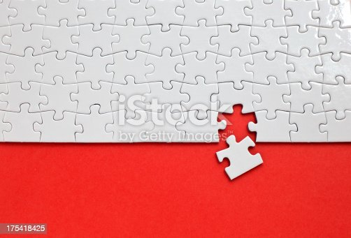 istock Puzzle with missing piece 175418425
