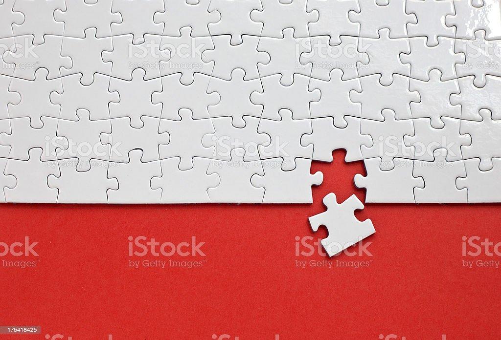 Puzzle con falta una pieza - foto de stock