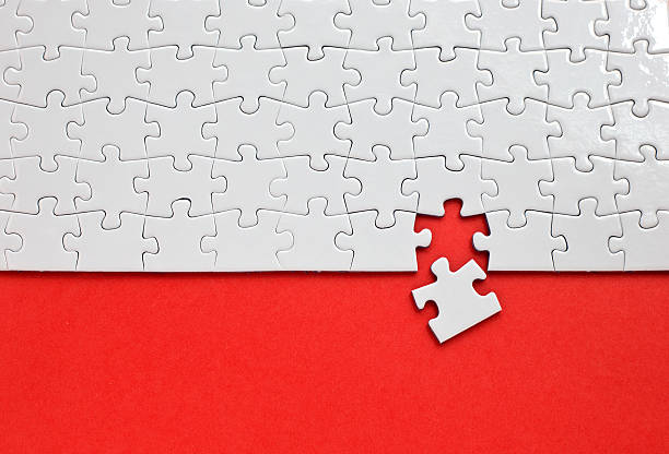 puzzle with missing piece - jigsaw puzzle stock photos and pictures