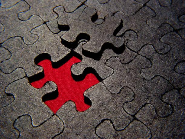 Puzzled stock photo