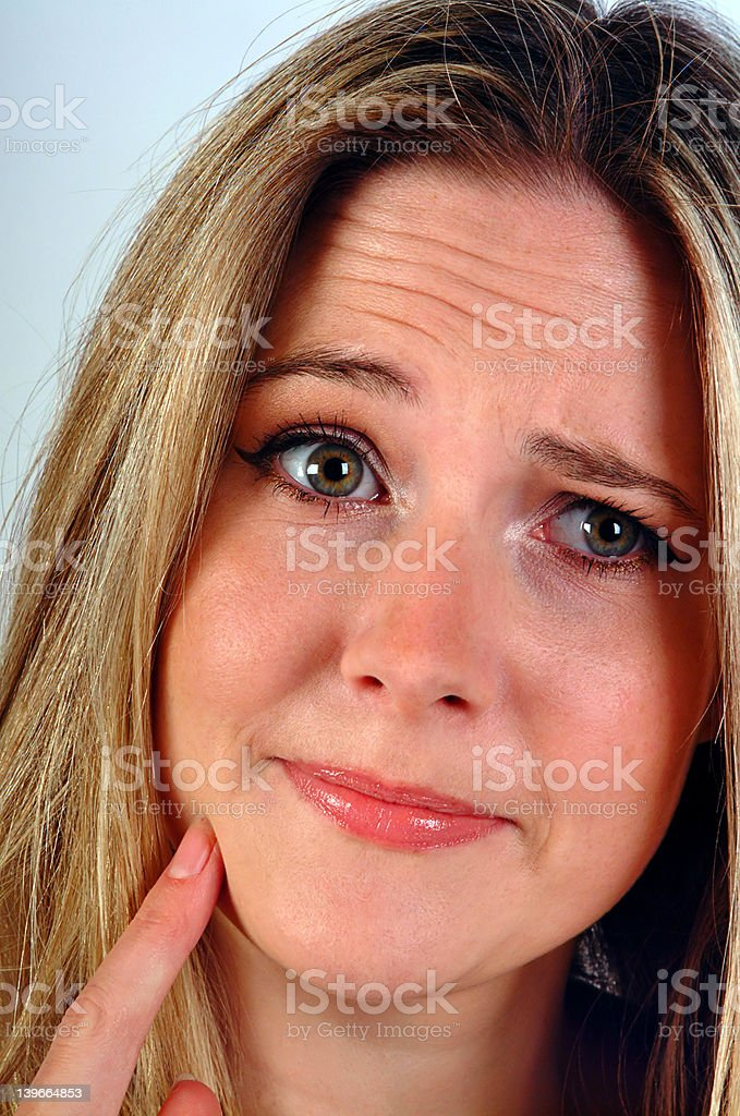 Puzzled Woman stock photo