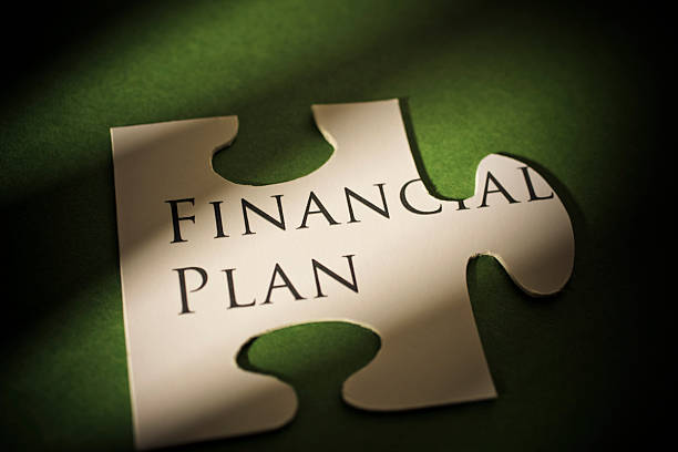 Puzzling Financial Plan stock photo
