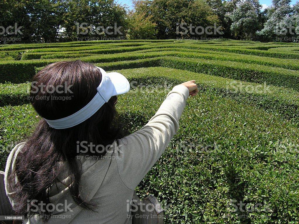 Puzzling maze royalty-free stock photo