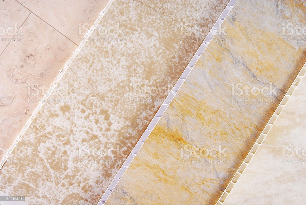 pvc plastic cladding panel samples royalty-free stock photo