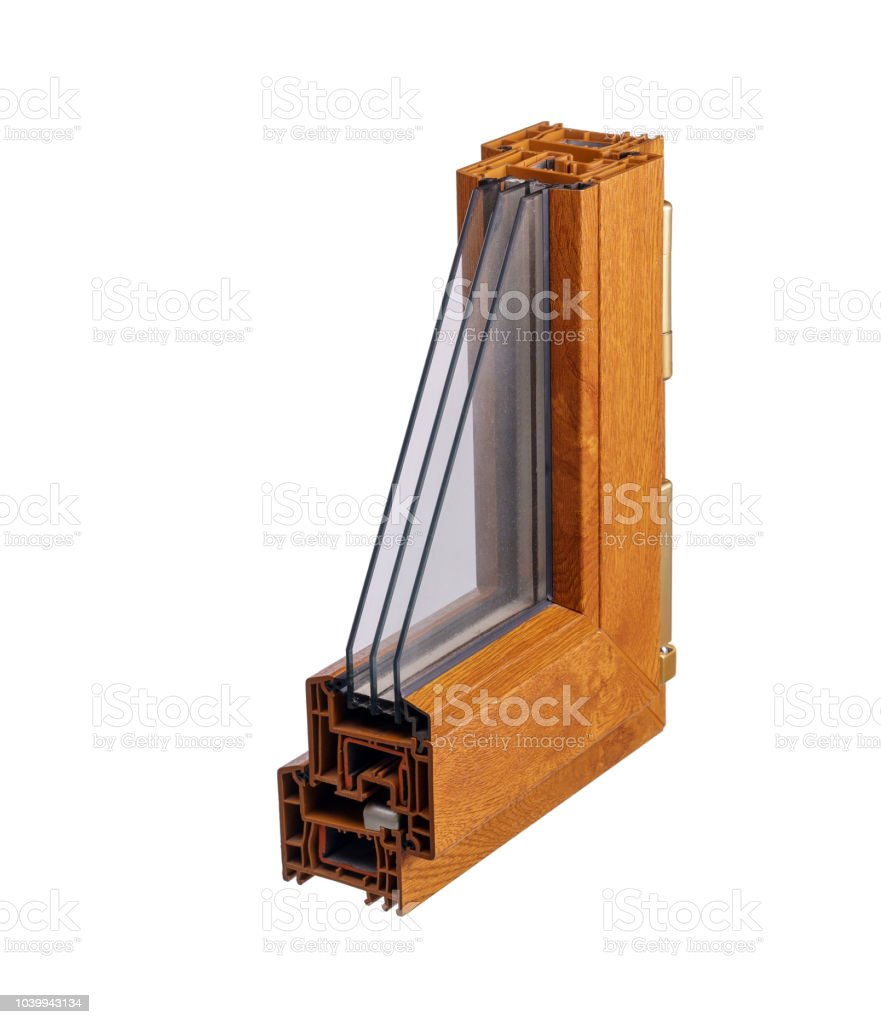 Ventanas Pvc Stock.Perfil De Pvc Ventanas Con Vidrios Triples Foto De Stock Y