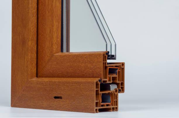 Pvc profile windows with triple glazing