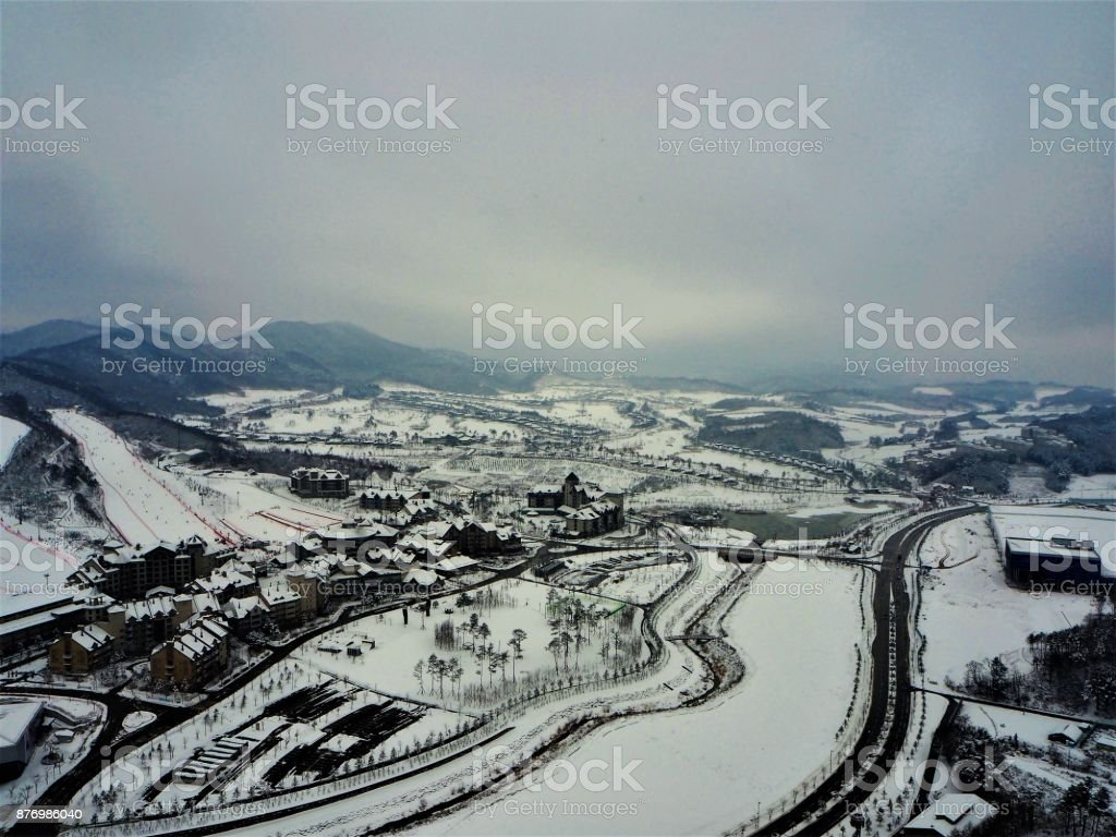 Pyeong Chang South Korea stock photo
