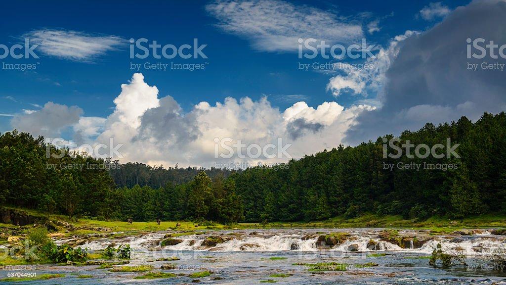 Pykara river and lake near Ooty stock photo