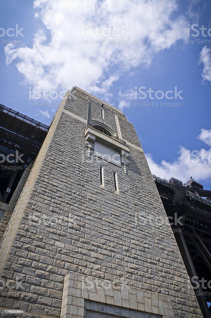 Pylon of Sydney Harbour Bridge royalty-free stock photo