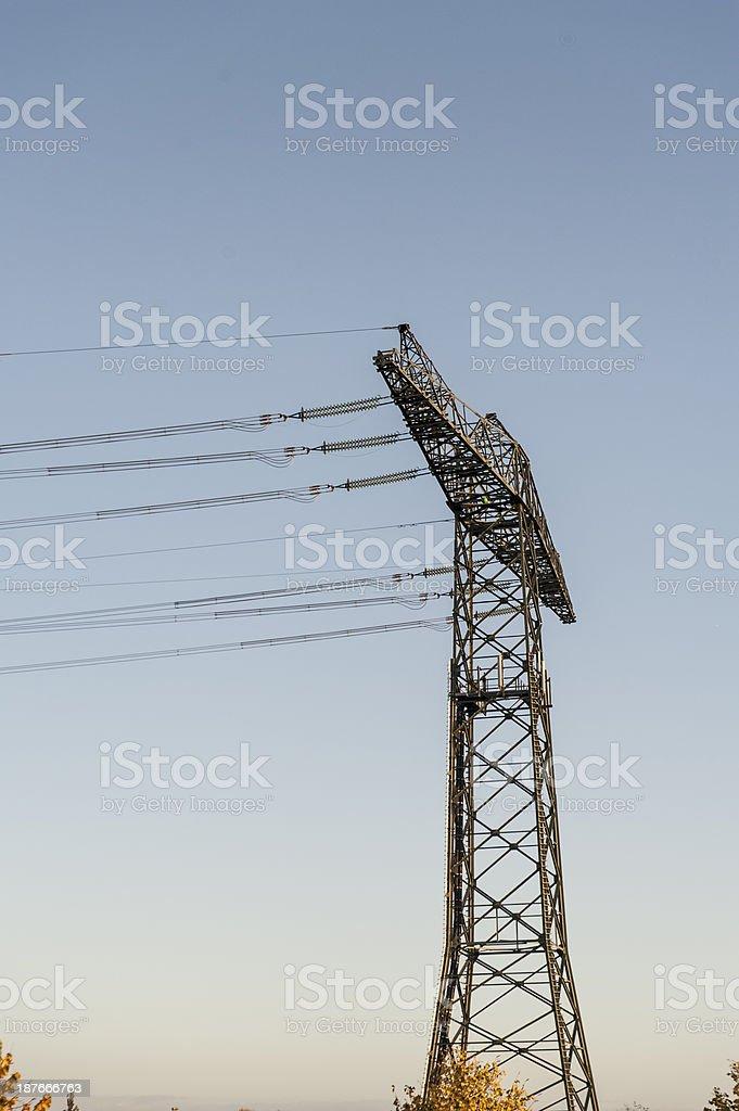 pylon on a field stock photo