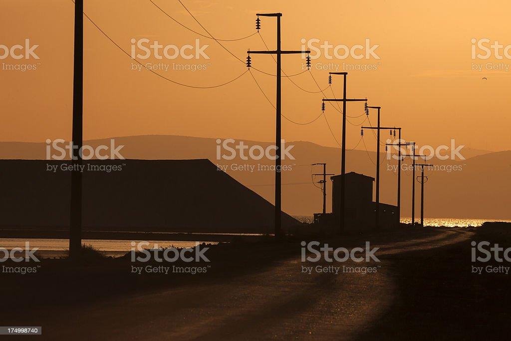 pylon power stock photo