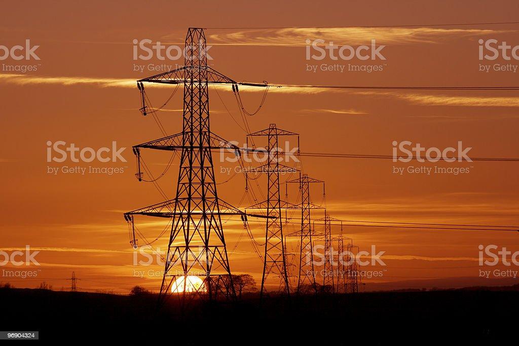 pylon sunset royalty-free stock photo