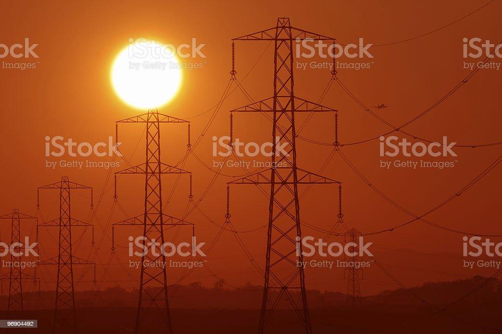 pylon sunshine royalty-free stock photo