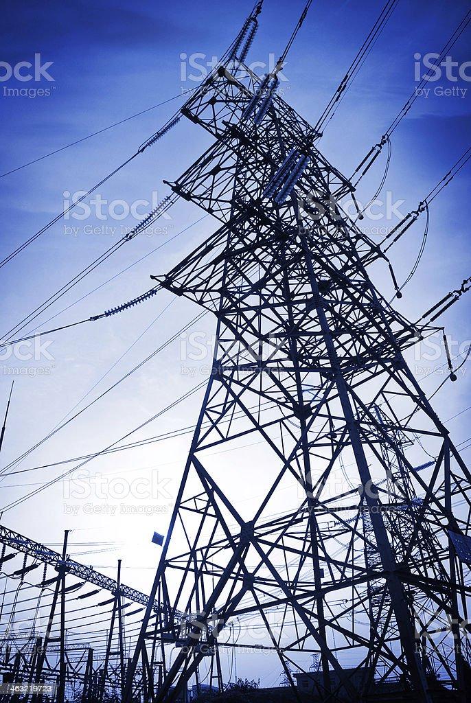 pylon with blue sky royalty-free stock photo