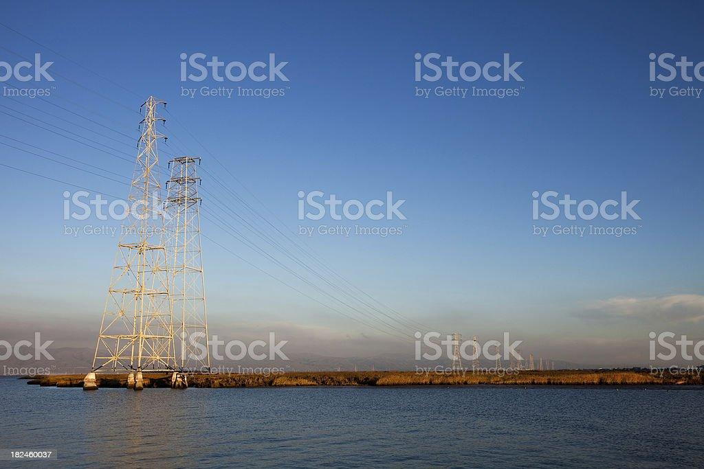Torres ao pôr-do-sol na Califórnia foto royalty-free
