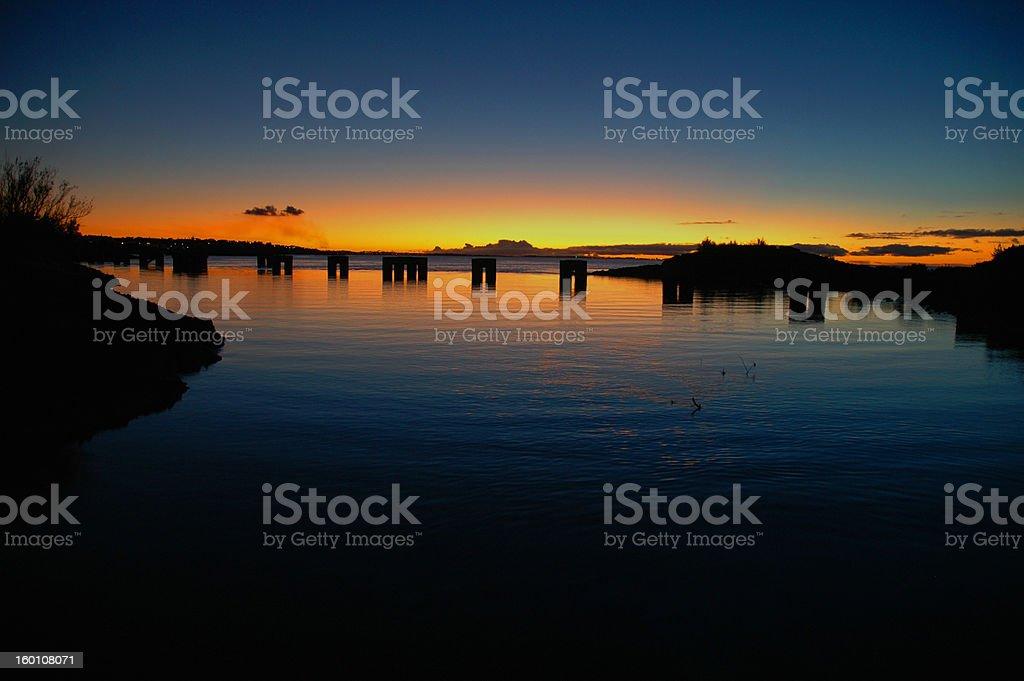 Pylons at sunset royalty-free stock photo