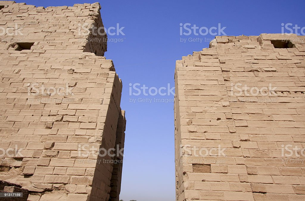 Pylons at the Temple of Karnak royalty-free stock photo