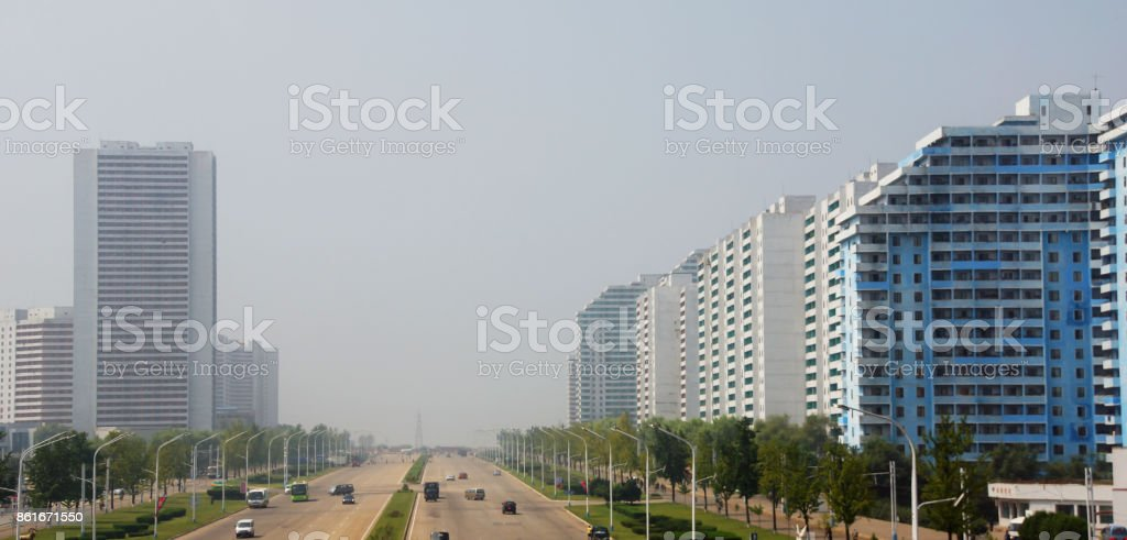 Pyongyang, the capital of North Korea stock photo