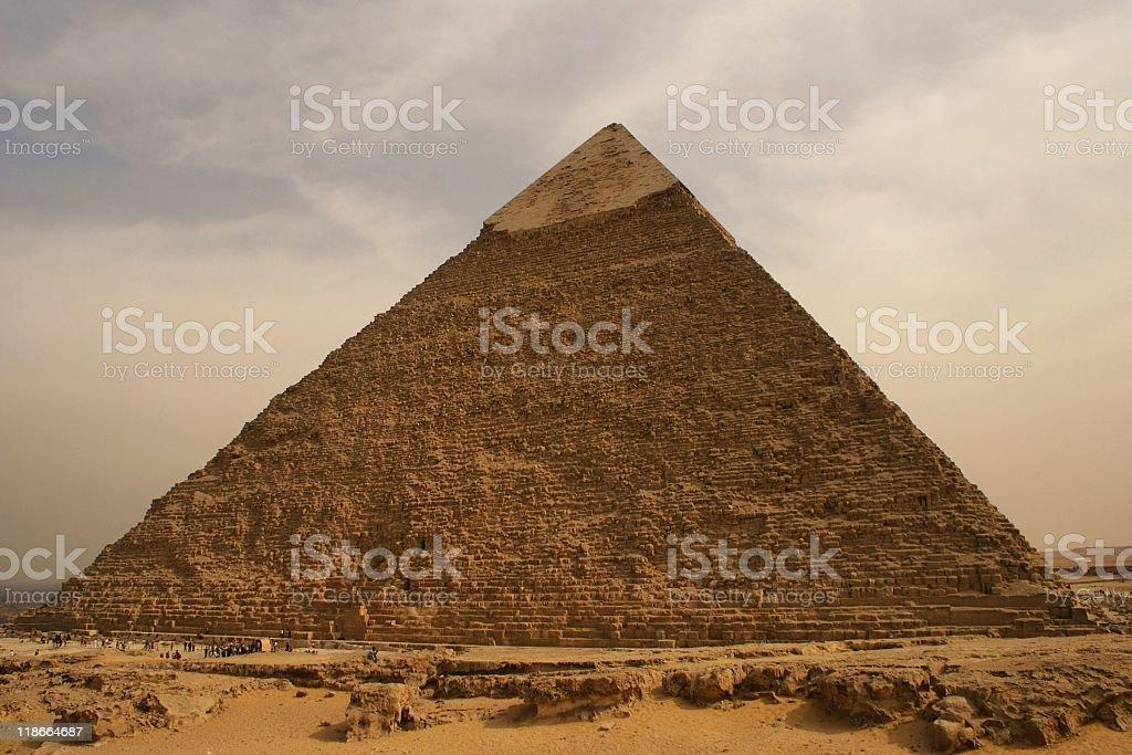 Pyramid at Giza Plateau, Cairo, Egypt royalty-free stock photo