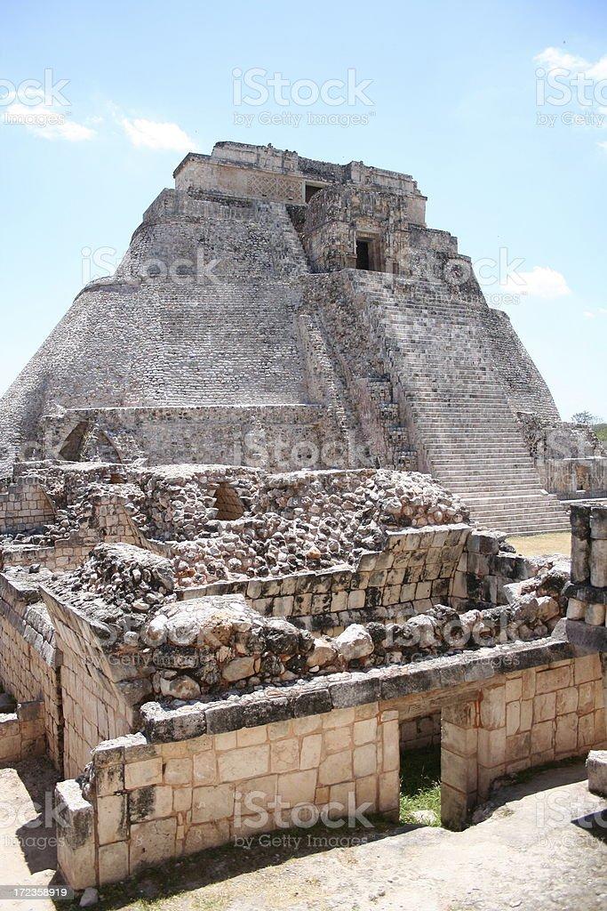 Pyramid at Uxmal royalty-free stock photo