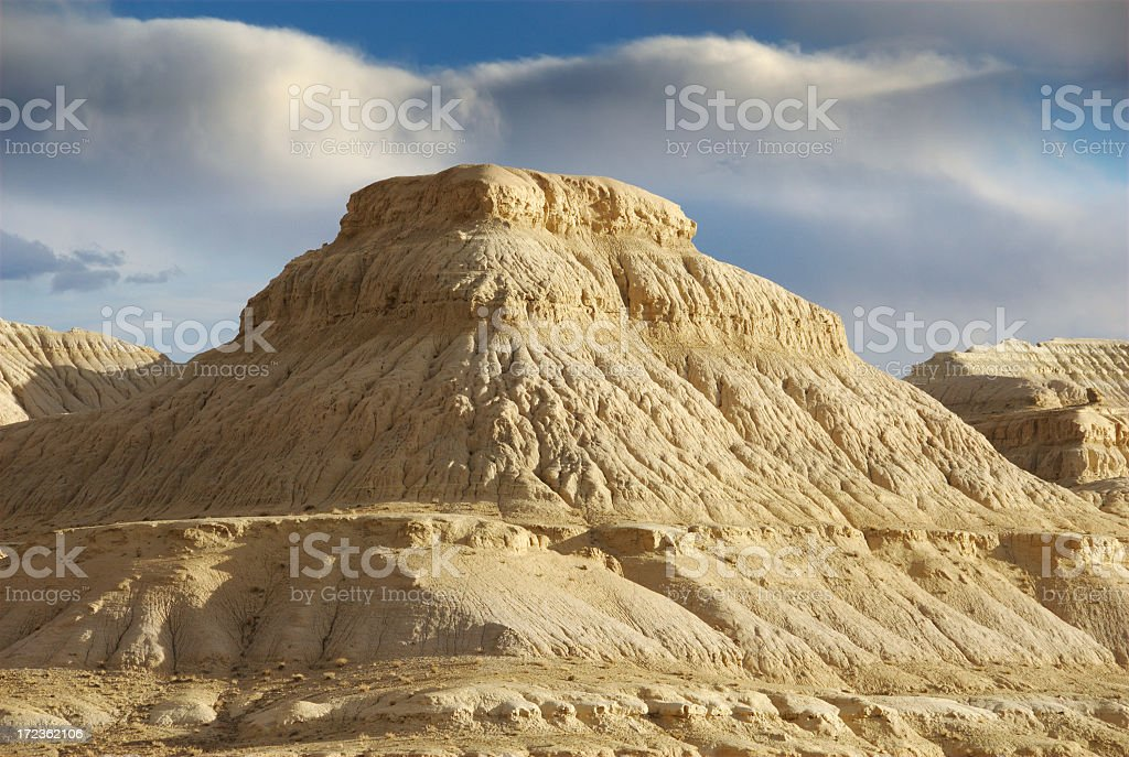 Pyramid at Zanda Clay Forest National Geopark (Tibet) royalty-free stock photo