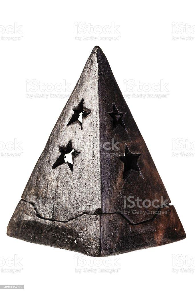 pyramid candle holder royalty-free stock photo