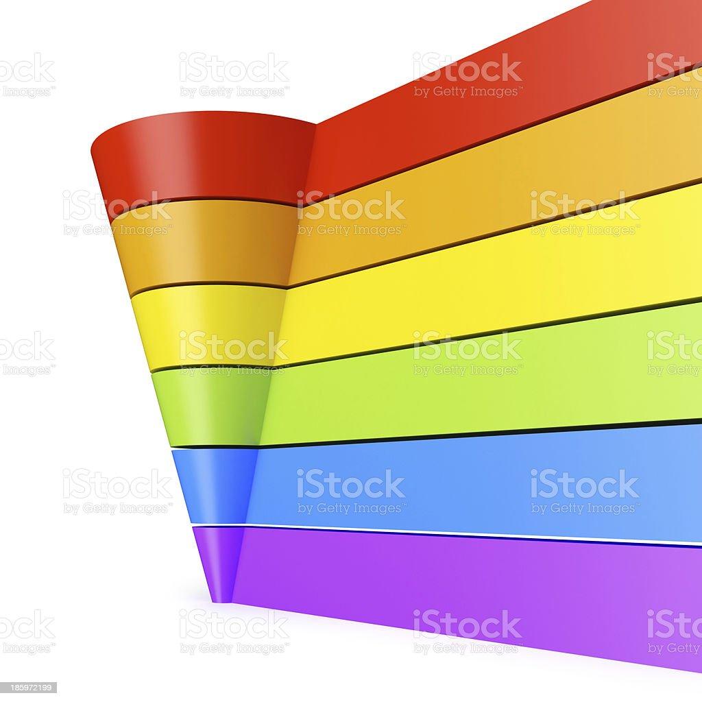 Pyramid chart. royalty-free stock photo