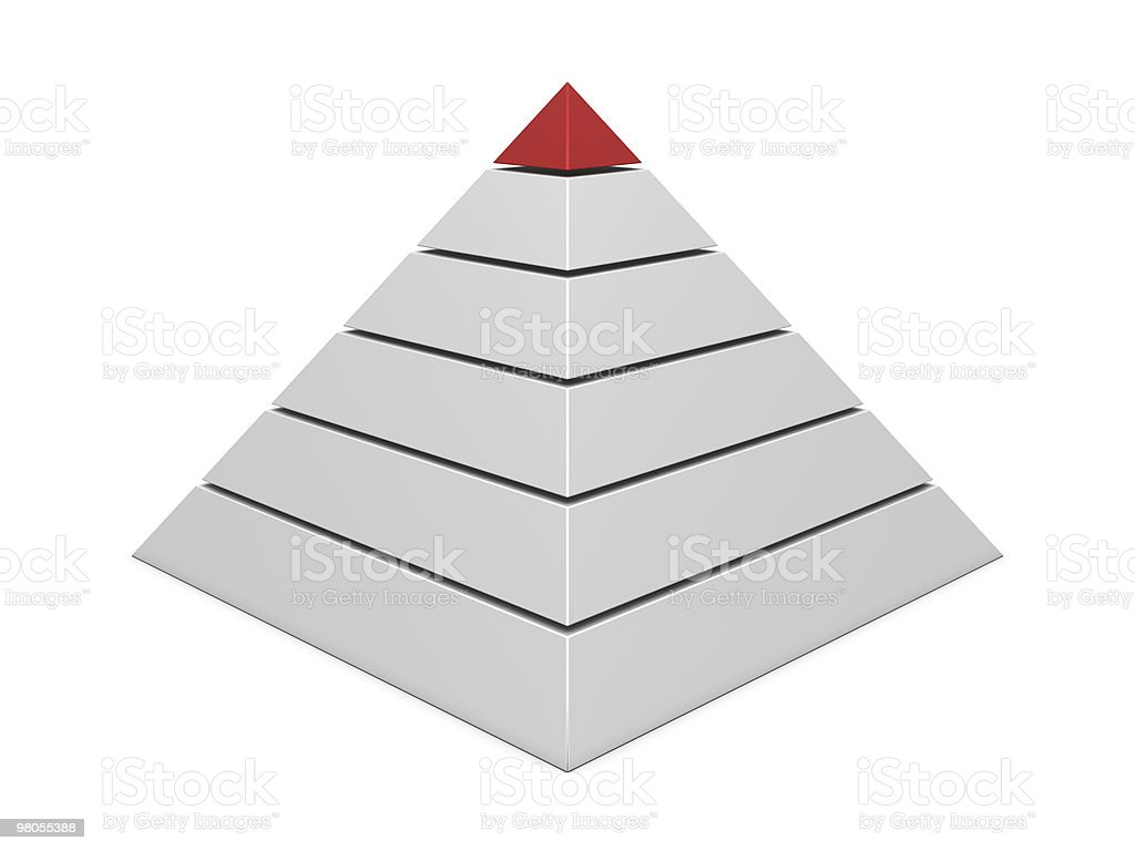 Pyramid chart red-white royalty-free stock photo
