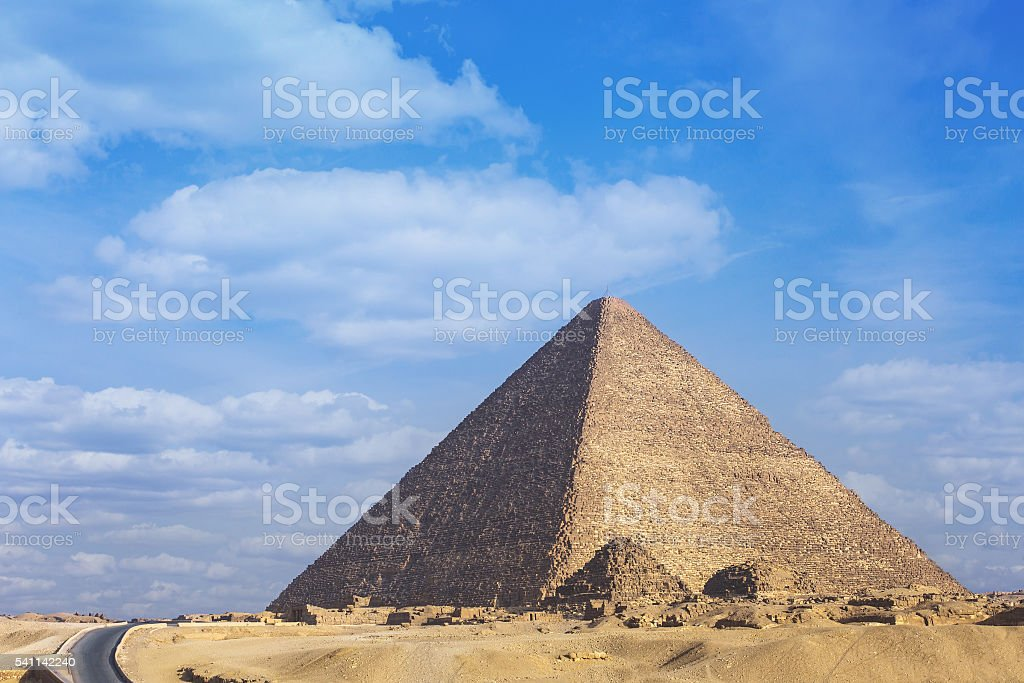 Pyramid Cheops Egypt stock photo