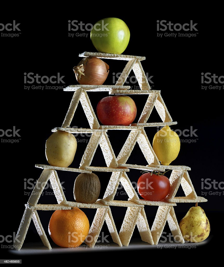 pyramid food stock photo