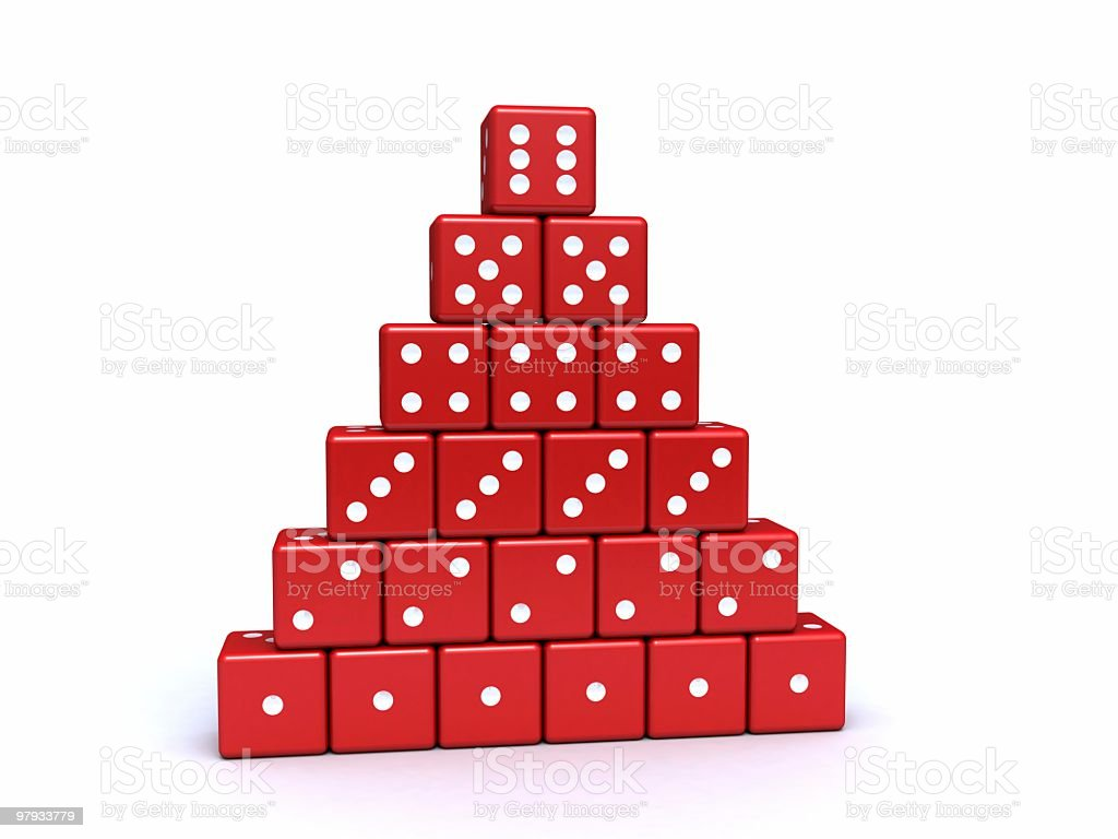Pyramid from dices royalty-free stock photo