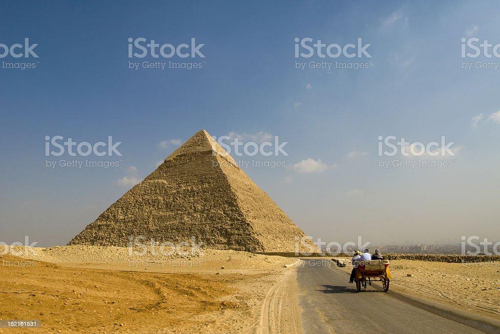 Pyramid in Giza royalty-free stock photo