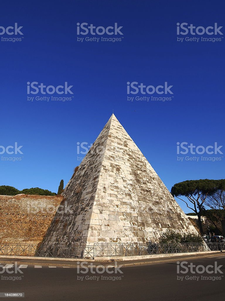 Pyramide in Rome royalty-free stock photo