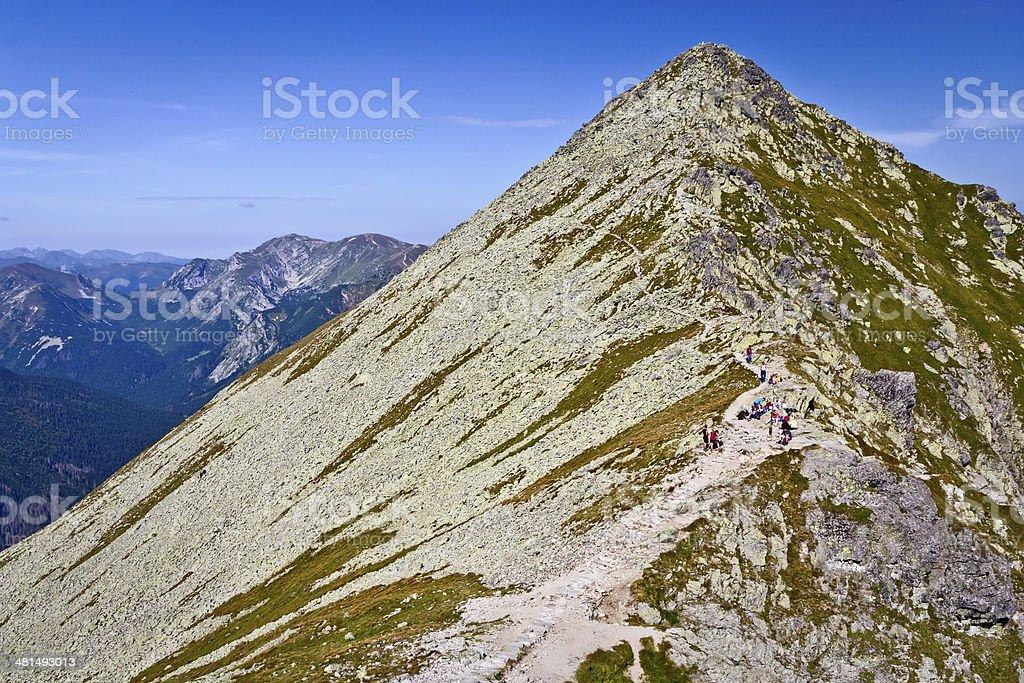 Pyramid in the Tatra Mountains royalty-free stock photo