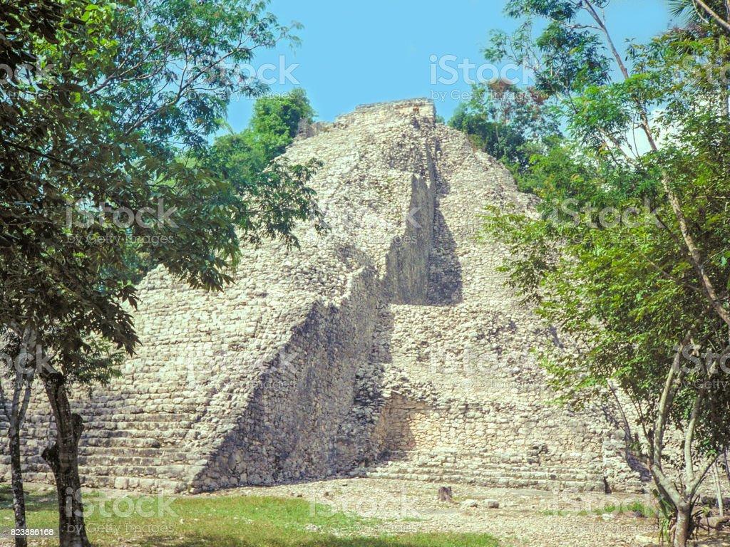 Pyramid in the Yucatan stock photo