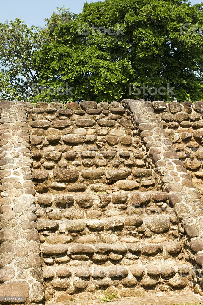 Pyramid, Izapa Archaeological Site, Mexico royalty-free stock photo