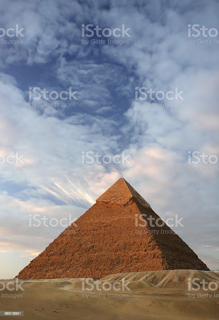 pyramid khafre egypt stock photo