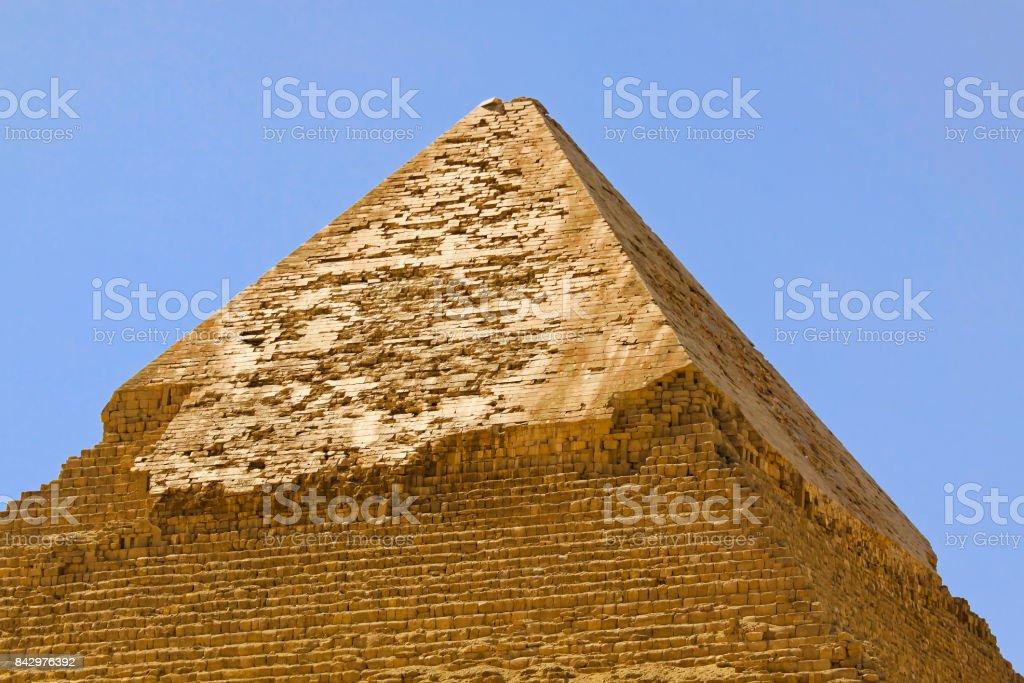 Pyramid Kharfe top stock photo